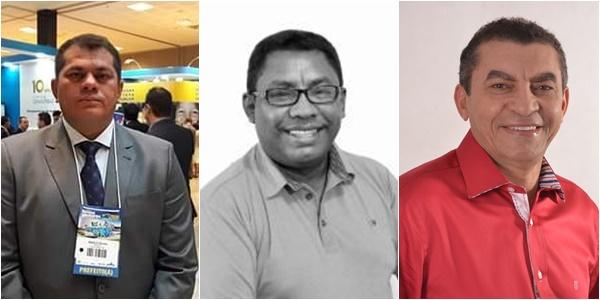 Da esquerda para direita: Prefeito de Catanhede 'Ruivo', Matões do Norte Padre Domingos e Yomar prefeito de Pirapemas