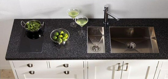 plan de travail cuisine granit noir