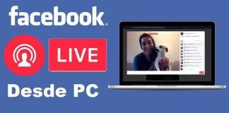 transmitir por Facebook desde pc