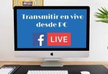 Transmitir en vivo en Facebook