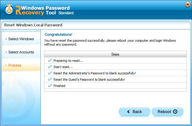 Windows Password Reset Standard