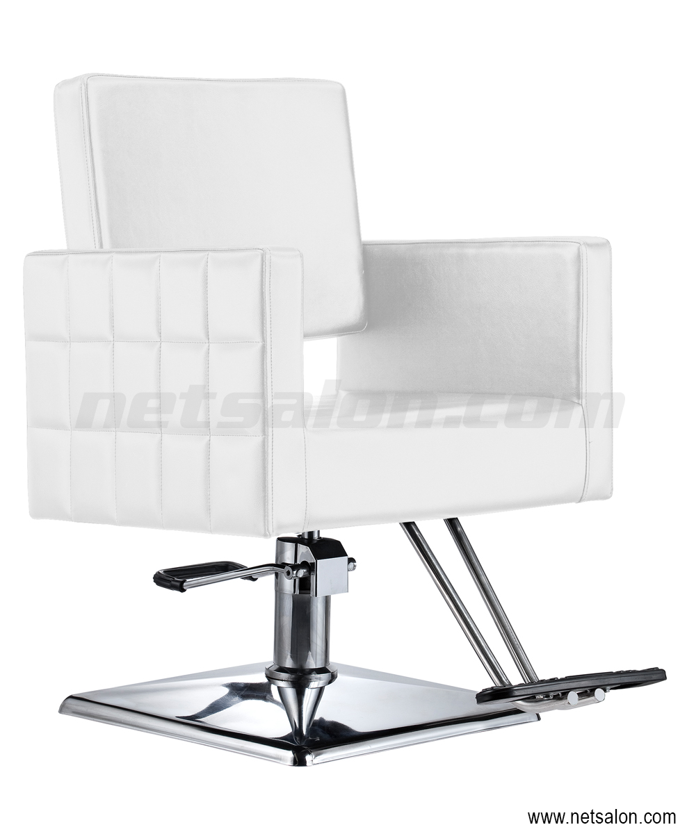 Cubix Pro Styling Salon Chair in White | Salon Chairs & Stools