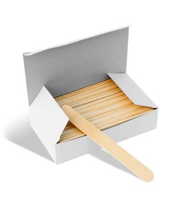 Large Wooden Waxing Spatulas