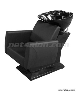 TekNoh Salon Backwash Sink & Chair Unit in Black