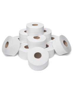 Mini Jumbo Toilet Rolls - 2ply - 60mm x 200m - Case of 12