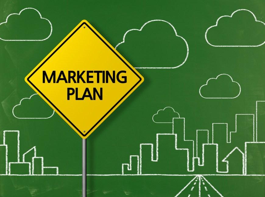 MARKETING PLAN - Business Chalkboard Background