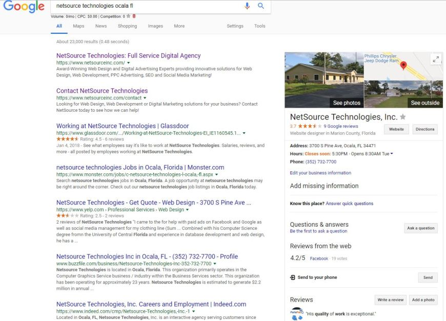 Local Listings Search Result