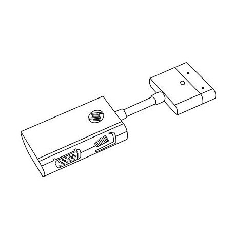 HP Dock Connector to Ethernet & VGA Adapter G7U78AA