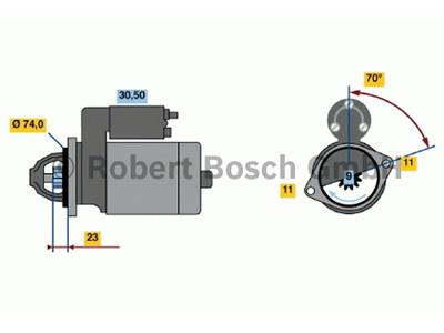 0001109035 Starttimoottori Bosch