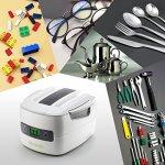 LifeBasis Nettoyeur à ultrasons avec Panneau de commande en Écran tactile pour cartouches, électroniques, montres du rasoir et bijoux Professional 1,4L