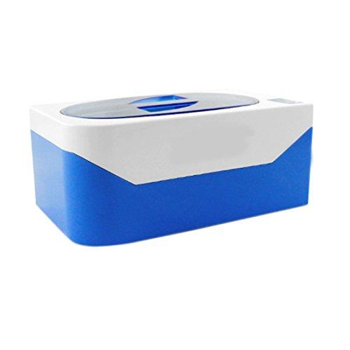 Nettoyeur à ultrasons Minuteur numérique pour nettoyage de lunettes montres Bagues Colliers Taille M USA Blue