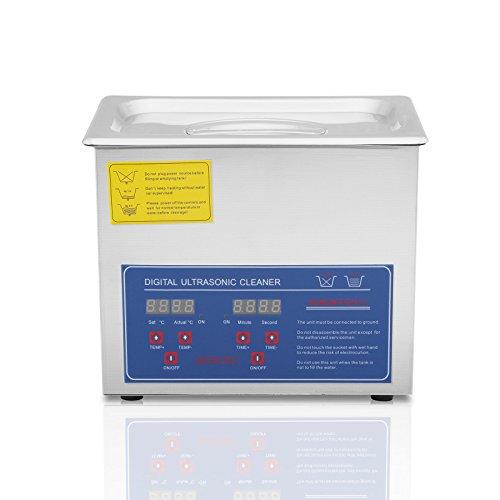 Chaneau Nettoyeur A Ultrasons 3L Ultrasonic Cleaner Professionnel Nettoyeur Digital Affichage Ultrasonique (3L)
