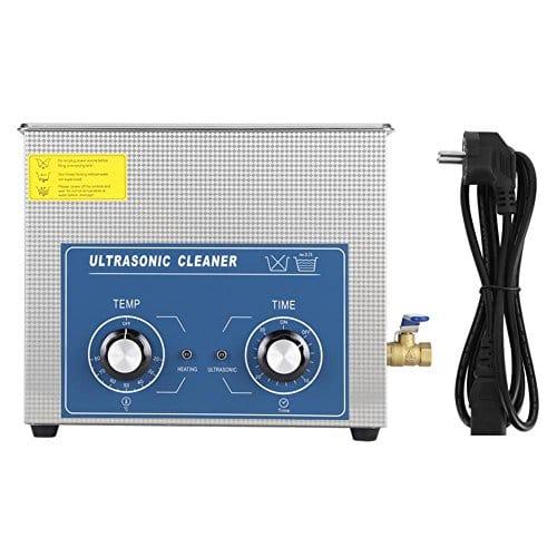 Nettoyeur à Ultrasons Professionnel, 1 Pièces en Acier Inoxydable Nettoyeur à Ultrasons Chauffé Machine avec Panier (Variété de Tailles: 2L/ 3L/ 6L/ 10L/ 14L/ 15L/ 19L/ 22L)(6L)