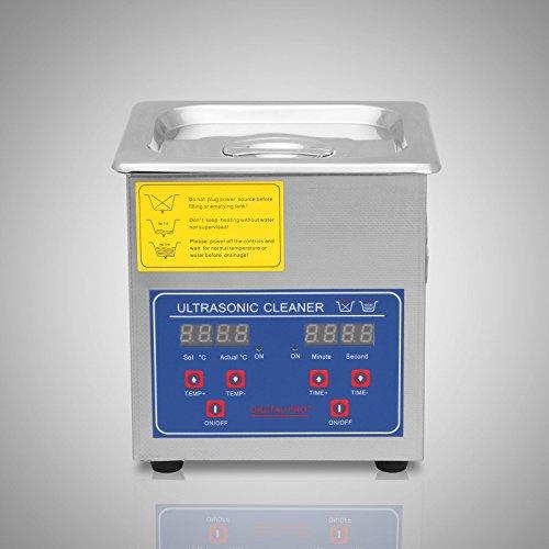 Chaneau Nettoyeur A Ultrasons 1.3L Ultrasonic Cleaner Professionnel Nettoyeur Digital Affichage Ultrasonique (1.3L)
