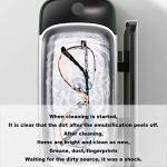 FMMXN Nettoyeur À Ultrasons avec Nettoyant Ménager pour Nettoyer Les Bijoux, Bagues, Verres, Prothèses Dentaires, Montres, Paniers De CD Et Supports De Montre,Vert