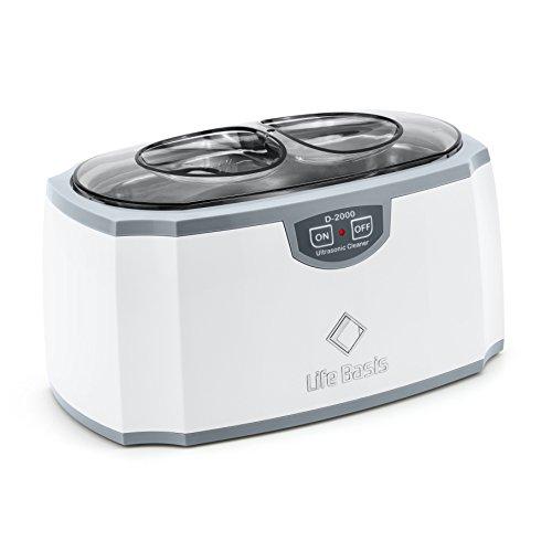 LifeBasis nettoyeur à ultrasons 450ml avec cuve en acier inoxydable, 45 kHz haute puissance Laveuse à ultrasons pour Lunettes, Montre, Bijoux, Pièces de monnaie, et Rasoirs