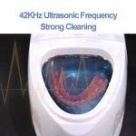LLDKA Nettoyeur à ultrasons, Nettoyage par ultrasons Machines, Appareils Invisibles Beauté Invisible Fausses Dents Fourchette Correcteur Horloge Nettoyage Bijoux