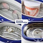 LLDKA Nettoyeur à ultrasons,Nettoyage Dentiers/Montres/Métal/Bijoux/Argent/Pièces De Monnaie/Accessoires Rasoir Nettoyant Lunettes,600Ml,Gris