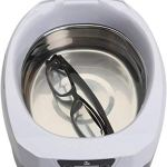 Nettoyeur à ultrasons numérique avec Affichage LED, Panier et Support pour Bijoux prothèses dentaires Montres Lunettes pièces de Rasoir