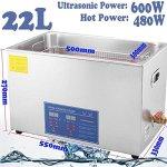 Nettoyeur à ultrasons pour composants industriels appareils médicaux et éléments de construction numérique électronique à ultrasons onde Machine à laver 10L/15L/22L/30L Métallique Argent (22L)