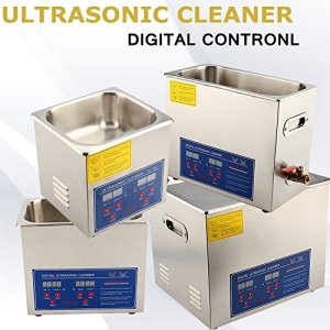 Nettoyeur industriel à ultrasons, en acier inoxydable avec minuteur, écran numérique, dispositif professionnel chauffant 1.3l