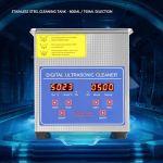 SOULONG 1,3L-30L Nettoyeur à ultrasons numérique Ultrasonic Nettoyeur à ultrasons Couvercle en Acier Inoxydable avec poignée et Pieds en Caoutchouc antidérapants, 1.3L
