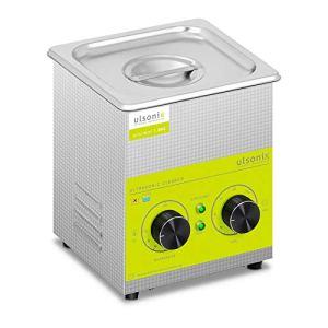 Ulsonix Nettoyeur À Ultrasons Bain Ultrason Bac Sonicateur Cuve Machine Ultrason PROCLEAN 1.3MS (1,3 litre, Puissance Ultrason 60 W, Chauffe 100 W, 40 kHz, Minuterie 60 min, Inox)