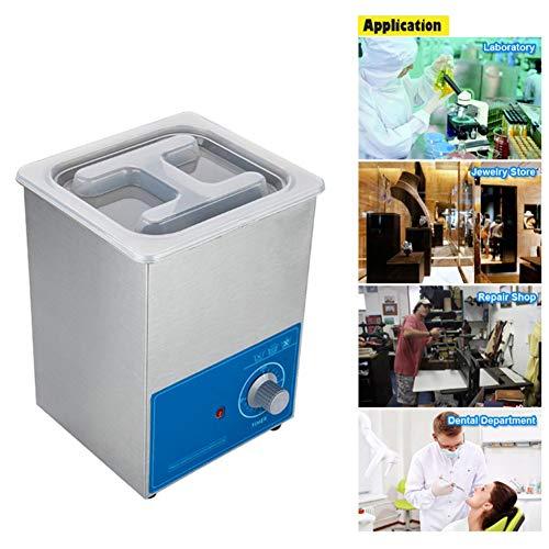 Washing Machine 2L Nettoyeur à Ultrasons Professionnel 50w 40khz avec Minuterie Numérique pour Panier De Chauffage pour Bijoux Lunettes Dentier Bracelet De Montre Pièces De Monnaie Etc Fauay