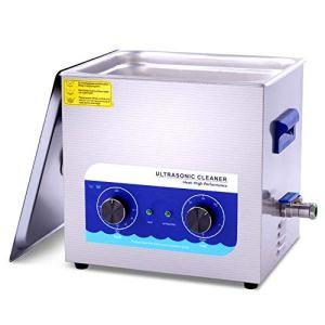 Washing Machine Nettoyeur à Ultrasons 6.5l Et 10l Commercial 180w Et 240w avec Panier De Chauffage pour Bijoux, Dentier, Pièces De Monnaie, Pièces Métalliques, Laiton Etc Fauay,10L