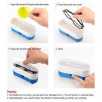 Nettoyeur à ultrasons portable 3 en 1 pour lunettes de vue Montres, bagues, colliers, pièces de monnaie, rasoirs, dentiers, peignes (Color : Bleu)