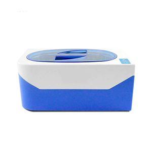 Nettoyeur à ultrasons pour Collier Boucles d'oreilles Bracelets dentiers Bains à ultrasons Vaisselle Lave-Linge,Bleu
