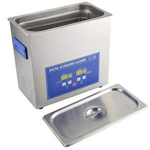 Qiter Machine de Nettoyage numérique, Nettoyeur à ultrasons de Grande capacité pour la verrerie de Bijoux Instrument Optique Lunettes Anneaux pièces