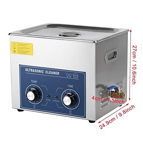 LYL Nettoyeur à ultrasons en acier inoxydable numérique, minuterie de chauffage, nettoyeur à ultrasons propre pour bijoux, verres 6l