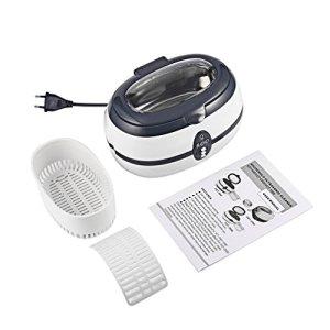 Nettoyeur à Ultrasons Professionnel, Footprintse Appareil Nettoyeur à Ultra-Sons 40 KHz 35W pour Bijoux/CD/Bracelet /Montre et Petit Outils en Acier Inoxydable 600mL (DK-08A)