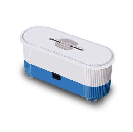 TL Nettoyeur À Ultrasons, 360 ° Tout-Ronde Nettoyage, Batterie Montable Design Cleaner Portable Lunettes avec Pieds Ventouses, pour Bijoux Lunettes