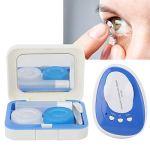 JULYKAI Système de Nettoyage de lentilles de Contact breveté, Nettoyeur à ultrasons Automatique à Haute fréquence(Prise UE)