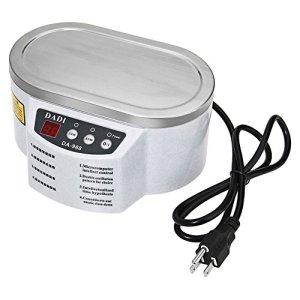 Vogvigo Mini nettoyeur à ultrasons, Machine de laveuse de nettoyeur numérique 600ml avec réglage de minuterie pour bijoux, CD,montres, prothèses dentaires, verres, pièces de monnaie et plus