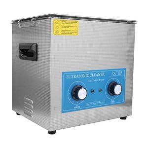 10L Nettoyeur à ultrasons chauffant à minuterie mécanique pour le nettoyage de bijoux, lunettes, prothèses dentaires, anneaux, montres, instruments chirurgicaux, etc.(Prise UE 200-240V)