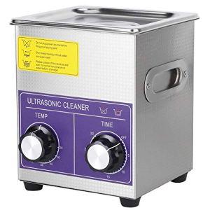 LYL Nettoyeur à ultrasons en acier inoxydable numérique, minuterie de chauffage, nettoyeur à ultrasons propre pour bijoux, verres 2l