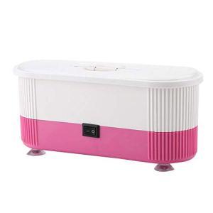 Nettoyeur à ultrasons, nettoyant à Bijoux, Nettoyeur à ultrasons alimenté par Batterie, avec Tournevis à Fausses Dents en Or(Powder)