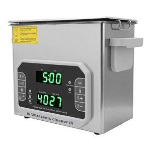 Nettoyeur à ultrasons professionnel de 4,5 L avec fonction de balayage de puissance pour nettoyer les bijoux, les lunettes, les prothèses dentaires, les anneaux, etc.(Prise UE 200-240V)
