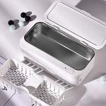Nettoyeur Ultrasons Lunettes, 450ML Bac Ultrasons, Nettoyage Kit pour Nettoyeur Pinceau Maquillage Bijoux Bagues Dentier Montres Étanches Ustensiles etc,Blue