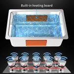 ZHLZH Nettoyeur Ultrasonique Numérique, Bouton de contrôle minuterie réglable en Acier Inoxydable Machine de Nettoyage par ultrasons, pour Bijoux Montres dentiers Verres pièces métalliques