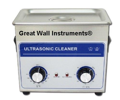 100W 3.2L Qualité commerciale Lab nettoyeur à ultrasons Lunettes Bijoux Cleaner 220V/110V Nettoyage avec panier