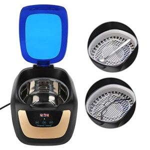 Appareil Nettoyeur à Ultra-Sons de Domestique – avec Panier Nettoyage et Support Automatique pour Nettoyage Bijoux/Lunette/Dentier/CD Professionnel (700ml)
