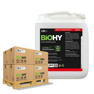 BIOHY Sanitärreiniger (50×10 Litre Bidon Palette) Nettoyeurs sanitaires 50 bidons de 10 litre | Concentré de décomposition pour les sanitaires | Laisse une odeur agréable et fraîche | EXTRA FORTE