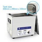 Cgoldenwall Jp-040s 10L à ultrasons Bijoux machine de nettoyage nettoyeur à ultrasons pour prothèses dentaires Vaisselle de pièces en métal à ultrasons appareil de nettoyage