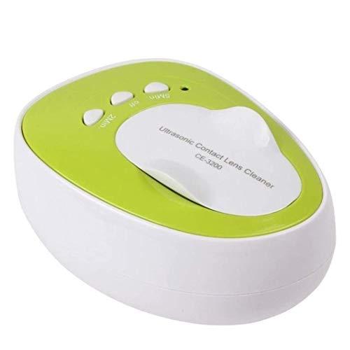 DXQDXQ Nettoyeur à ultrasons portable professionnel pour lentilles de contact à ultrasons 7 W 46 KHz Outil de nettoyage quotidien (couleur : vert)