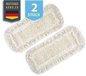 ELES VIDA Kit de Remplacement de 2 serpillères de Rechange pour Balai à Franges (2X Coton, 50 cm)
