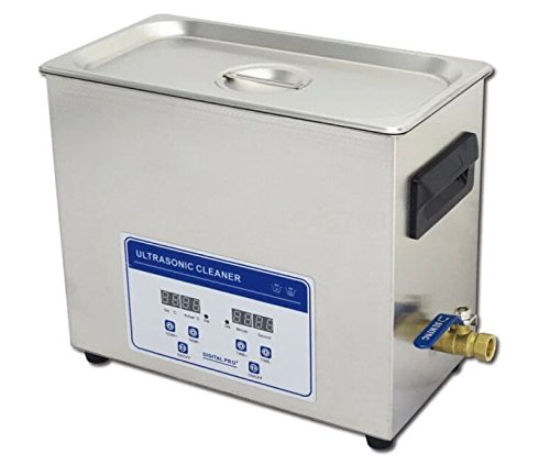 Gowe de haute qualité 110V/220V 180W Nettoyeur à Ultrasons Numérique 6,5L avec machine à laver robinet de vidange de nettoyage industriel
